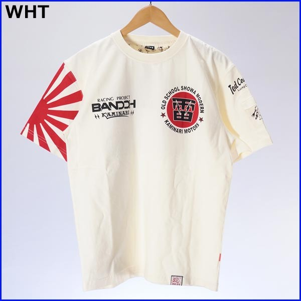 GTレース カミナリ×ウェッズ×テッドマンコラボ 半袖Tシャツ メンズ KAMINARI tdbdtee-400