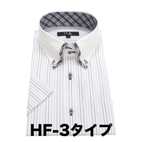ワイシャツ メンズ 半袖 送料無料  葛飾北斎 クールビズ スリム |0306|09