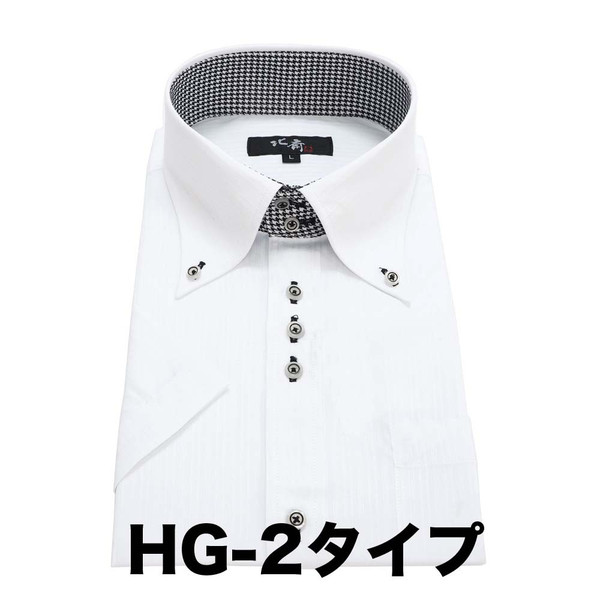 ワイシャツ メンズ 半袖 送料無料  葛飾北斎 クールビズ スリム |0306|11