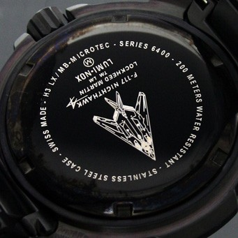 ルミノックス ロッキードマーティン F-117ナイトホークエヴォリューション ブラックアウト T25表記 6402.BO メンズ