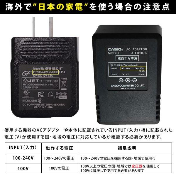 海外で日本の家電を使う場合の注意点