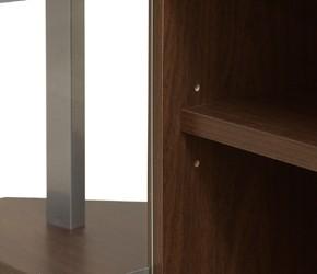 コーナーテレビボード 3cmピッチ3段階に調整できる棚板付き。