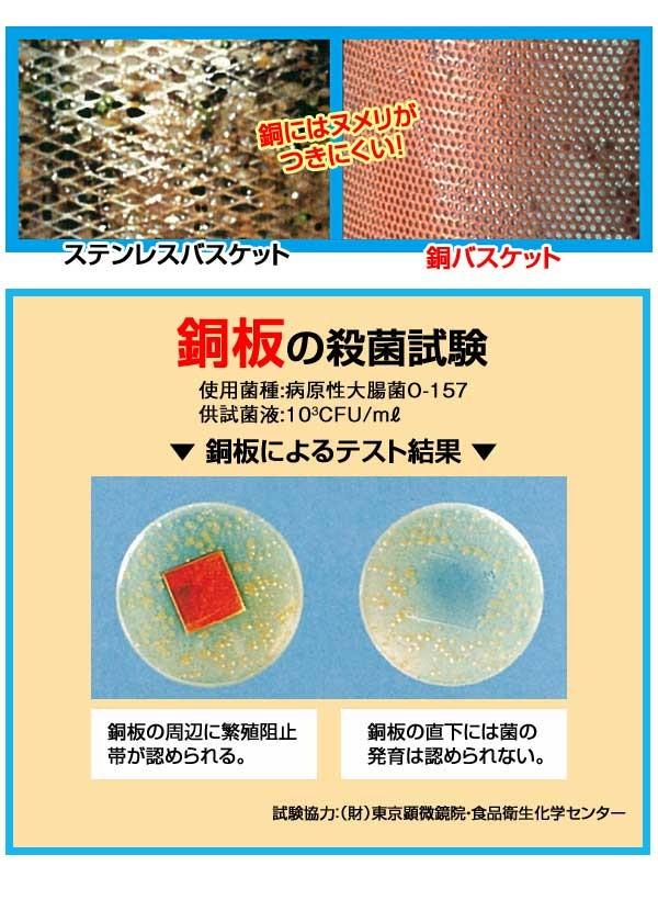 銅板の殺菌試験