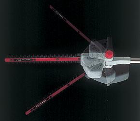 伸縮と角度の自在なポールバリカン Mr.ポールバリカン P-2001 ヘッド部角度調節