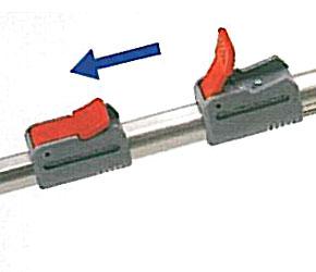 伸縮と角度の自在なポールバリカン Mr.ポールバリカン P-2001 ワンタッチ調整