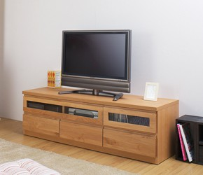 天然木テレビボード 幅150.5cm