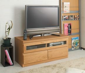 ス天然木テレビボード 幅101cm ナチュラル