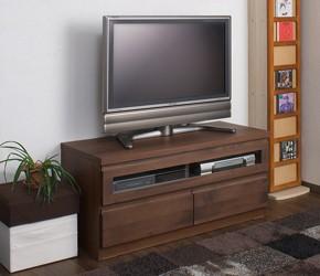 天然木テレビボード 幅101cm ダークブラウン