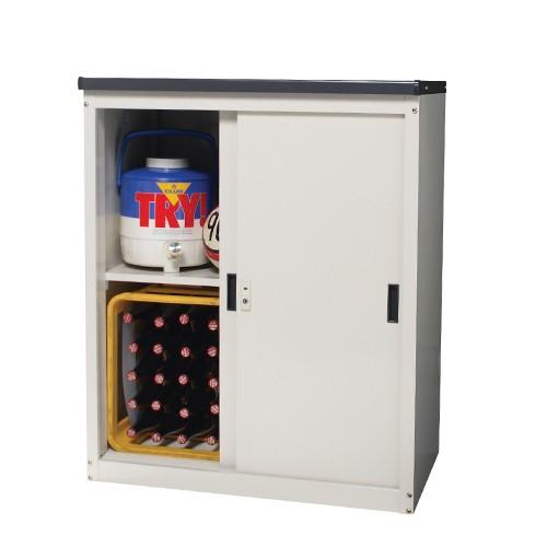 小型収納庫 中型物置 MKN-33 ベージュ
