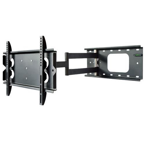 テレビ壁掛け金具 PLB-136SB ロングアーム 上下15°、左右90°(壁に当たるまで)角度調節可能。汎用 薄型・液晶テレビ対応26V型〜42V型対応