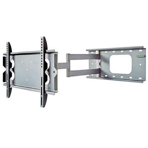 テレビ壁掛け金具 PLB-136SS ロングアーム 上下15°、左右90°(壁に当たるまで)角度調節可能。汎用 薄型・液晶テレビ対応26V型〜42V型対応