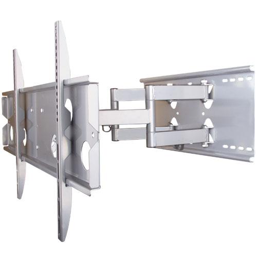 テレビ壁掛け金具PLB-137MS ロングアーム 上下15度、左右約45°(壁に当たるまで)角度調節可能。汎用 薄型・液晶テレビ対応37型〜65型対応