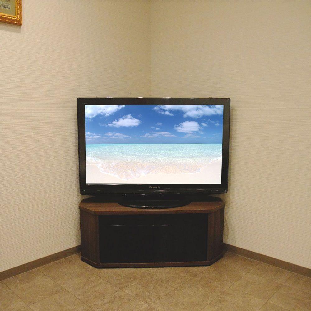 薄型・液晶テレビ対応コーナーテレビ台42型対応RCA-1000AV-CR ラシーヌコーナーカラー:ウォールナット柄
