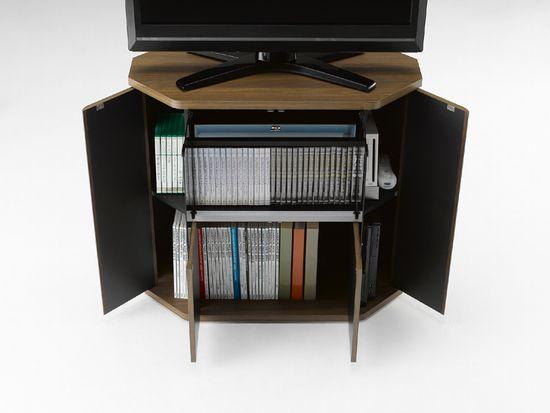 薄型・液晶テレビ対応コーナーテレビ台32型対応RCA-7580AV-CR ラシーヌコーナーハイタイプ。カラー:ブラウン(ウォールナット柄)
