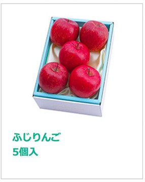 ふじりんご5個入