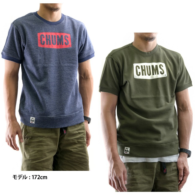 CHUMS S/S Logo Crew Top
