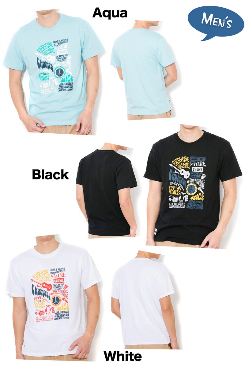 CHUMS チャムス Tシャツ Oldies Music T-Shirt