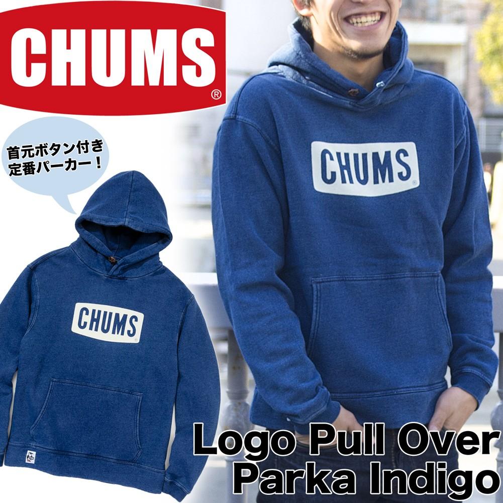 CHUMS Logo Parka Indogo