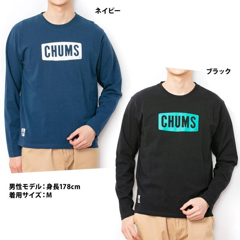 CHUMS チャムス Logo L/S T-Shirt Tシャツ
