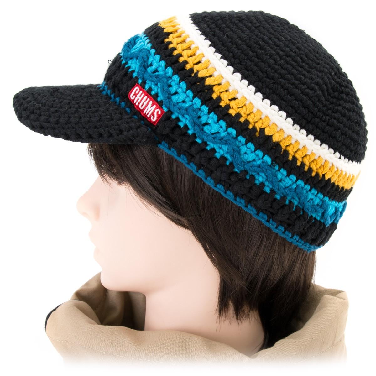 chums border work knit cap