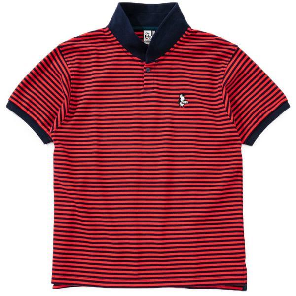 CHUMS チャムス ポロシャツ Booby Border Shawl Polo Shirt ブービー ボーダー ショール 2m50cm 09