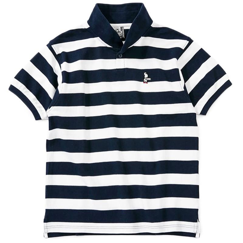 CHUMS チャムス Booby Border Shawl Polo Shirt ブービー ボーダー ショール ポロシャツ