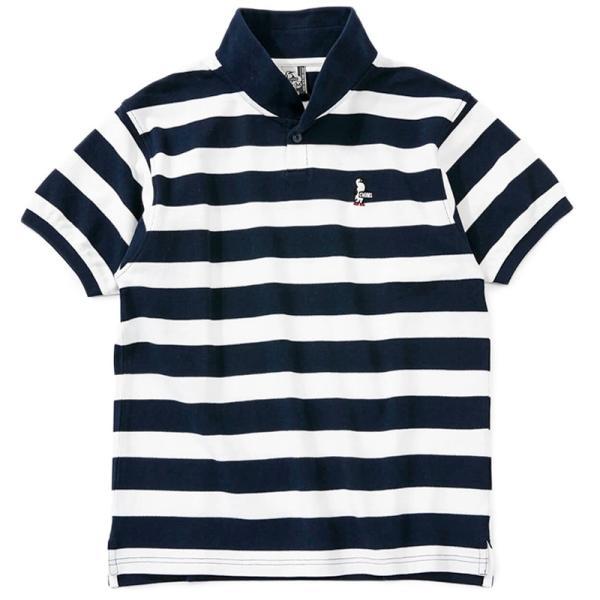 CHUMS チャムス ポロシャツ Booby Border Shawl Polo Shirt ブービー ボーダー ショール 2m50cm 10