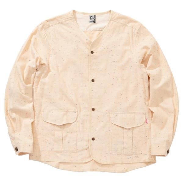 CHUMS チャムス No coller Nep Shirt ノーカラーネップシャツ|2m50cm|16