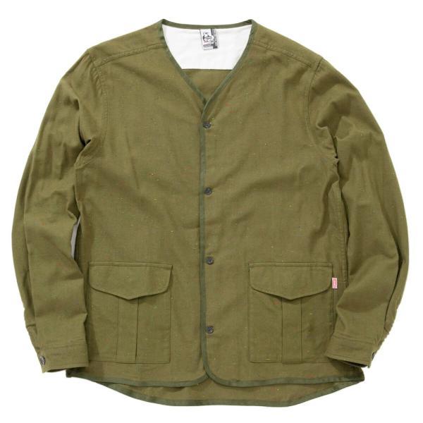 CHUMS チャムス No coller Nep Shirt ノーカラーネップシャツ|2m50cm|14