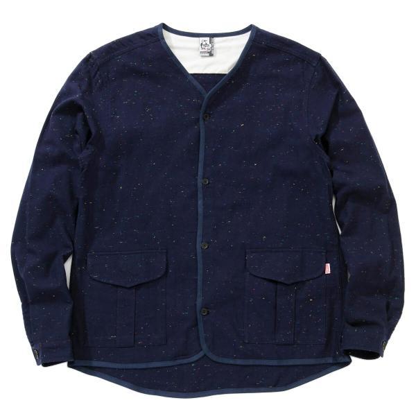 CHUMS チャムス No coller Nep Shirt ノーカラーネップシャツ|2m50cm|15
