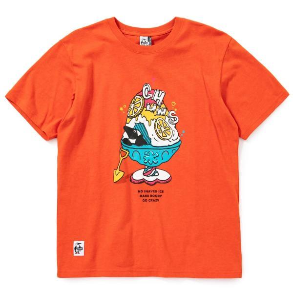 Tシャツ CHUMS Shaved Ice T-Shirt チャムス シェイブドアイス|2m50cm|16