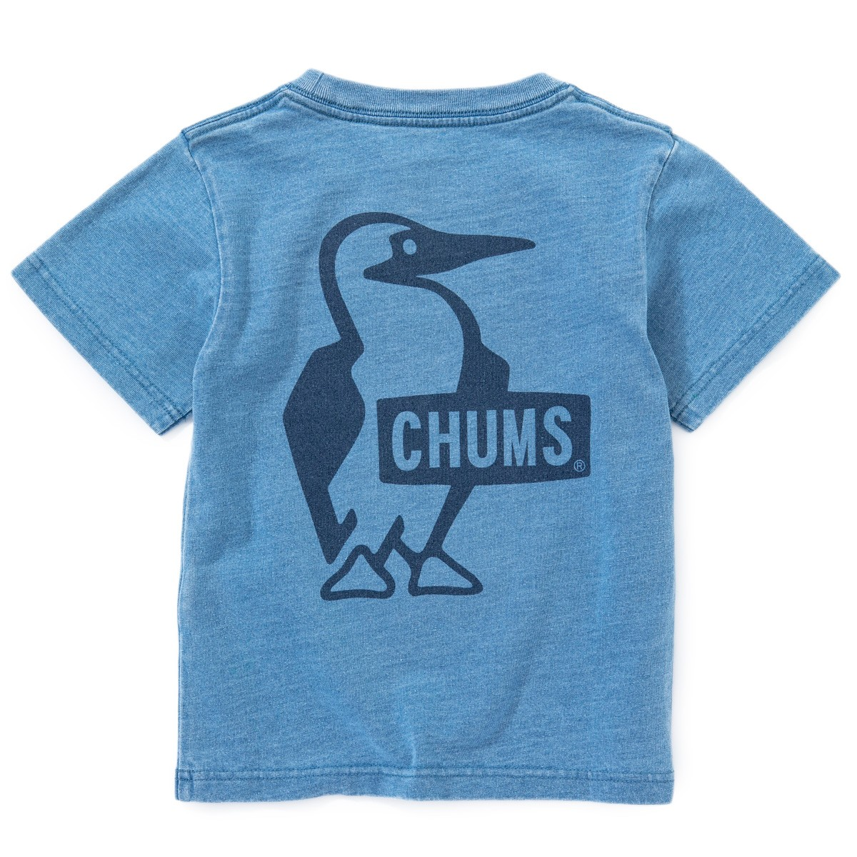 Kid's Booby Logo T-Shirt Indigo チャムス キッズ ブービーロゴ Tシャツ インディゴ