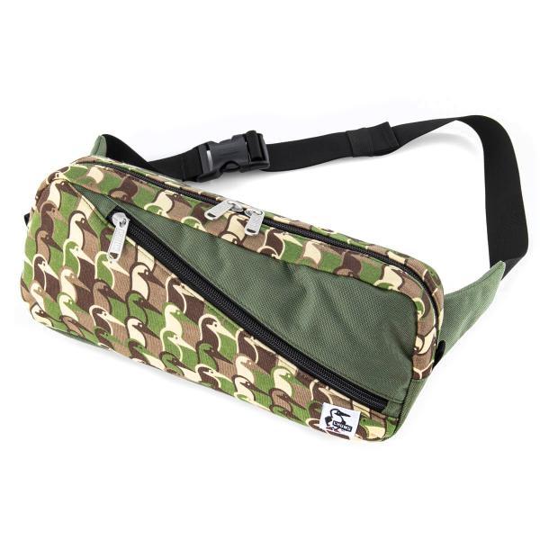 ボディバッグ CHUMS Squaer Waist Bag チャムス スクエア ウエストバッグ スウェット ナイロン 2m50cm 20