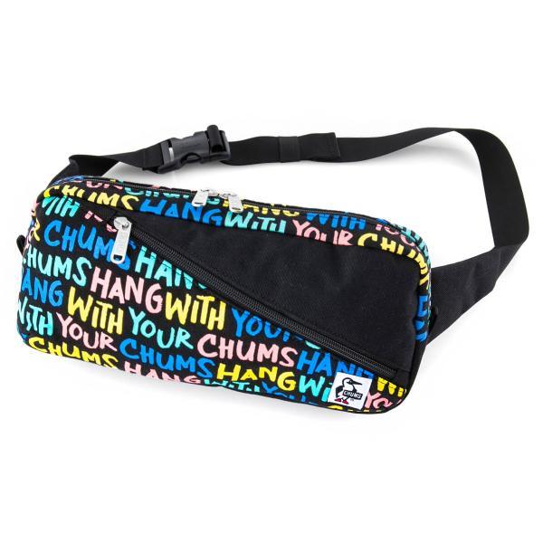 CHUMS チャムス ボディバッグ Square Waist Bag スクエア ウエストバッグ スウェット ナイロン|2m50cm|22
