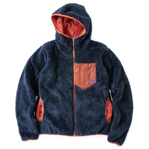 CHUMS チャムス フリースジャケット Bonding Fleece Zip Parka ボンディング フリース ジップ パーカー|2m50cm|15