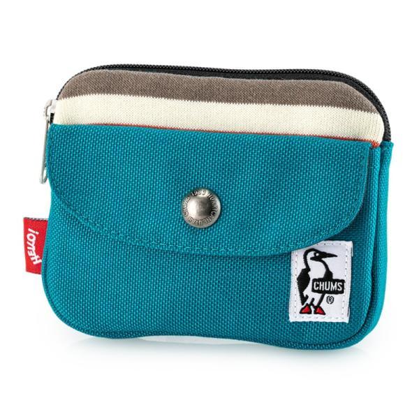 CHUMS チャムス 財布 Pocket Size Wallet Sweat Nylon ポケットサイズ ウォレット スウェットナイロン|2m50cm|21