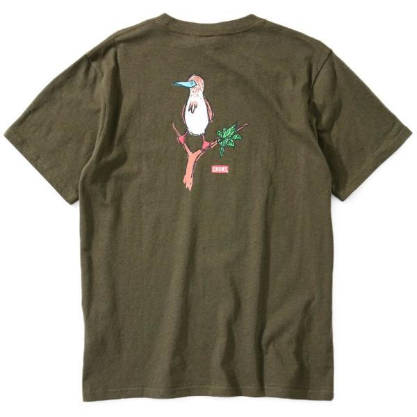 CHUMS チャムス Tシャツ Booby on the tree T-Shirt ブービー オンザツリー Tシャツ 半袖|2m50cm|09