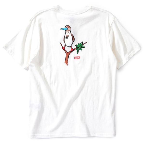 CHUMS チャムス Tシャツ Booby on the tree T-Shirt ブービー オンザツリー Tシャツ 半袖|2m50cm|10