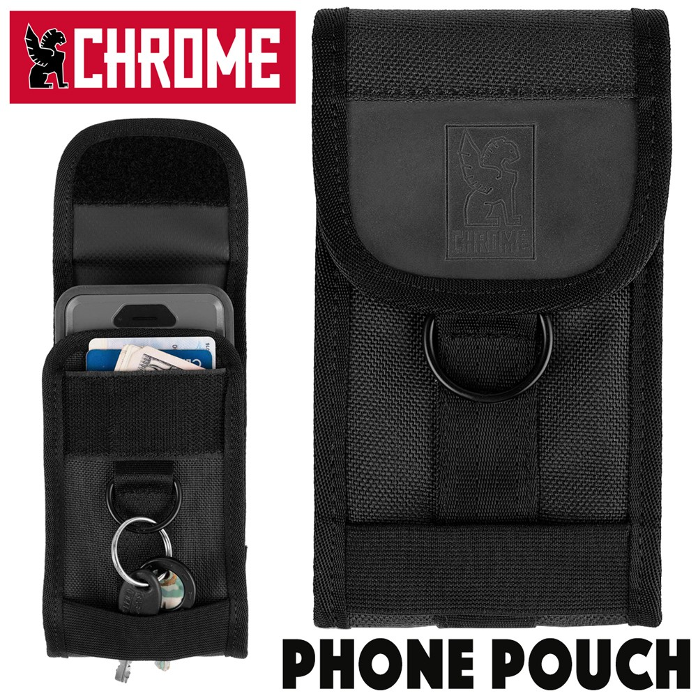 CHROME PHONE POUCH