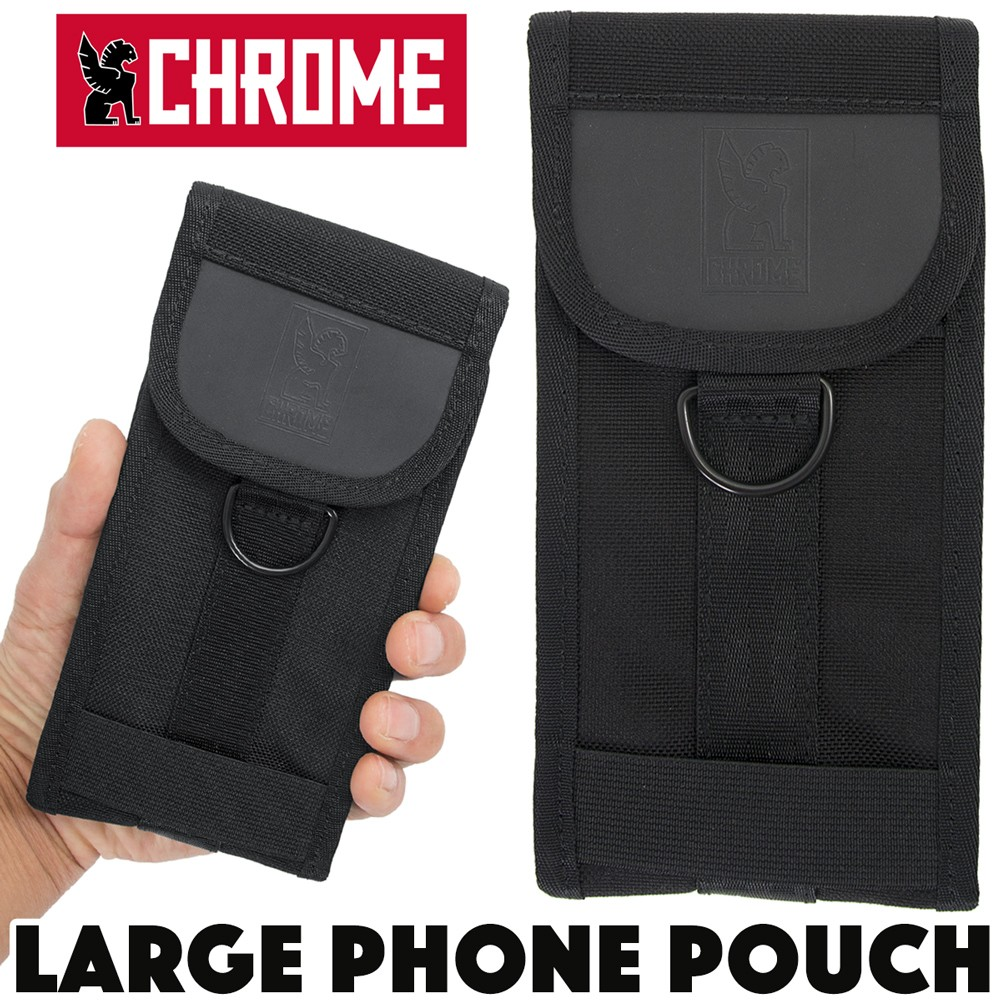 CHROME LARGE PHONE POUCH