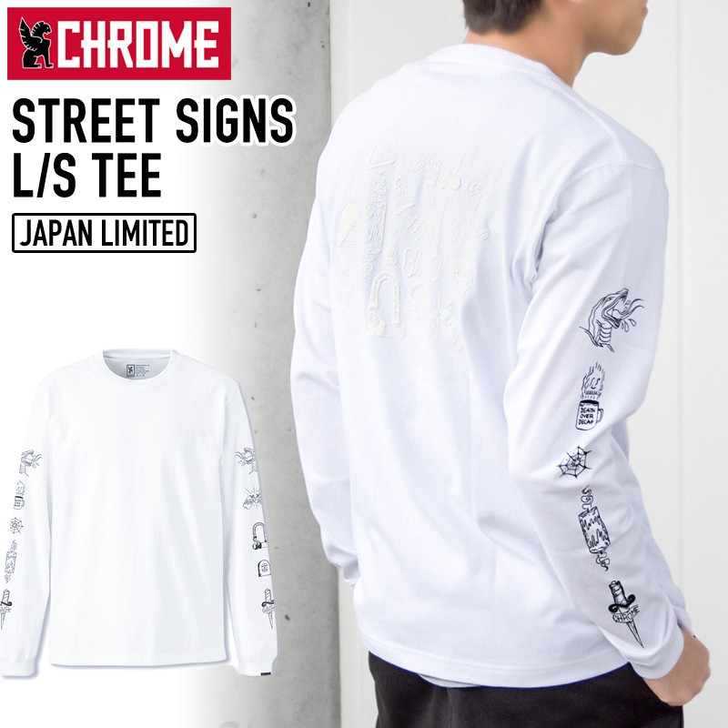 CHROME STREET SIGNS L/S TEE