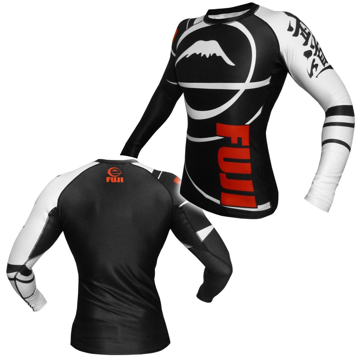FUJI Sports Freestyle IBJJF Ranked Rashguard Black Long Sleeve