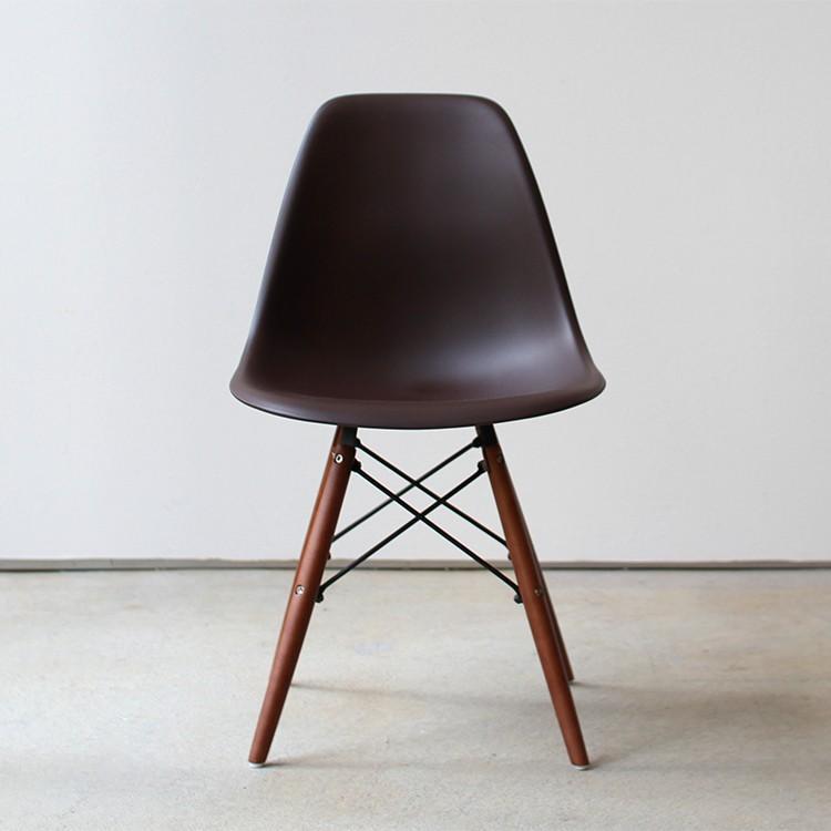 イームズチェア シェルチェア ウッドベース 椅子 イス DSW eames ブラウン木脚 リプロダクト ダイニングチェア MTS-032(BR)|3244p|24