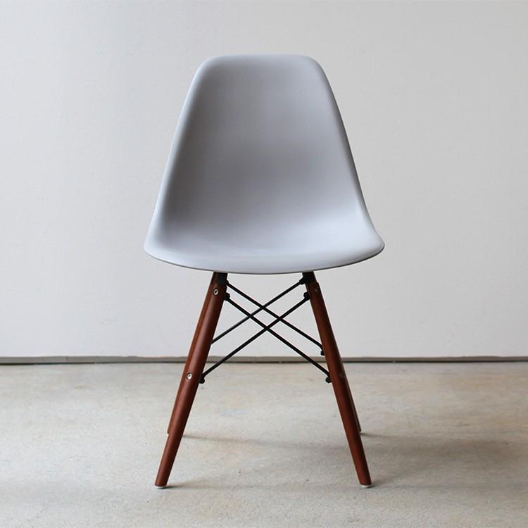 イームズチェア シェルチェア ウッドベース 椅子 イス DSW eames ブラウン木脚 リプロダクト ダイニングチェア MTS-032(BR)|3244p|23