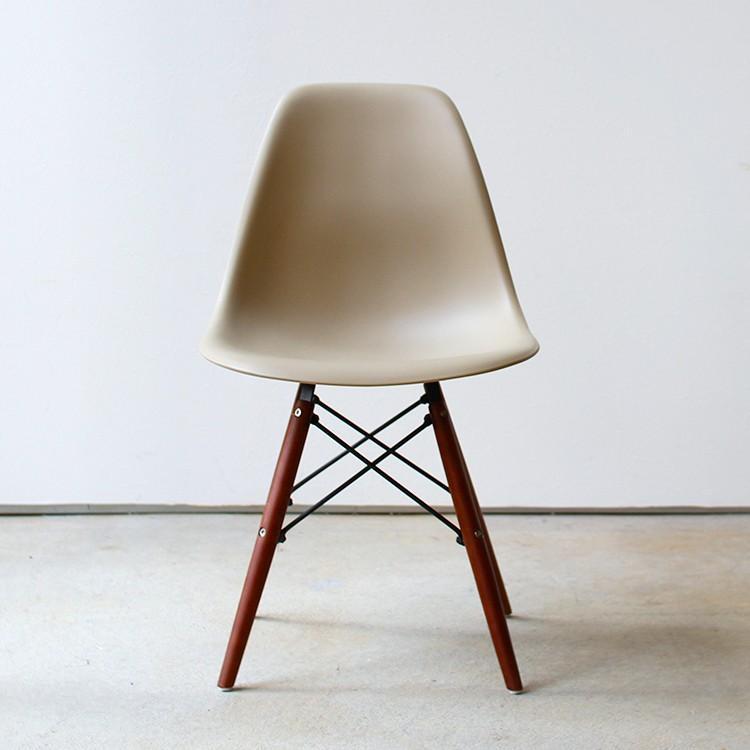 イームズチェア シェルチェア ウッドベース 椅子 イス DSW eames ブラウン木脚 リプロダクト ダイニングチェア MTS-032(BR)|3244p|21