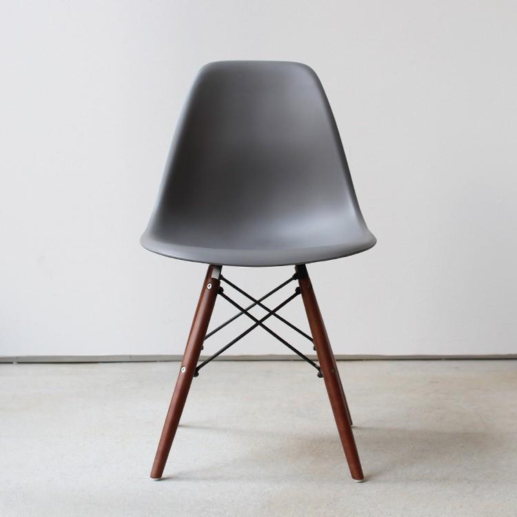 イームズチェア シェルチェア ウッドベース 椅子 イス DSW eames ブラウン木脚 リプロダクト ダイニングチェア MTS-032(BR)|3244p|22