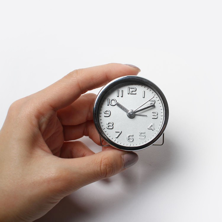 Mini Silver Alarm Clock