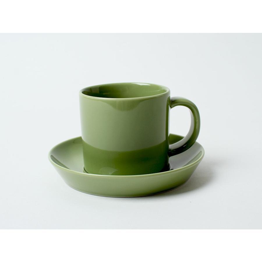 Common コーヒーC&S 180ml カップ ソーサー セット 西海陶器 SAIKAI WH GY YE NV RD GR|3244p|24