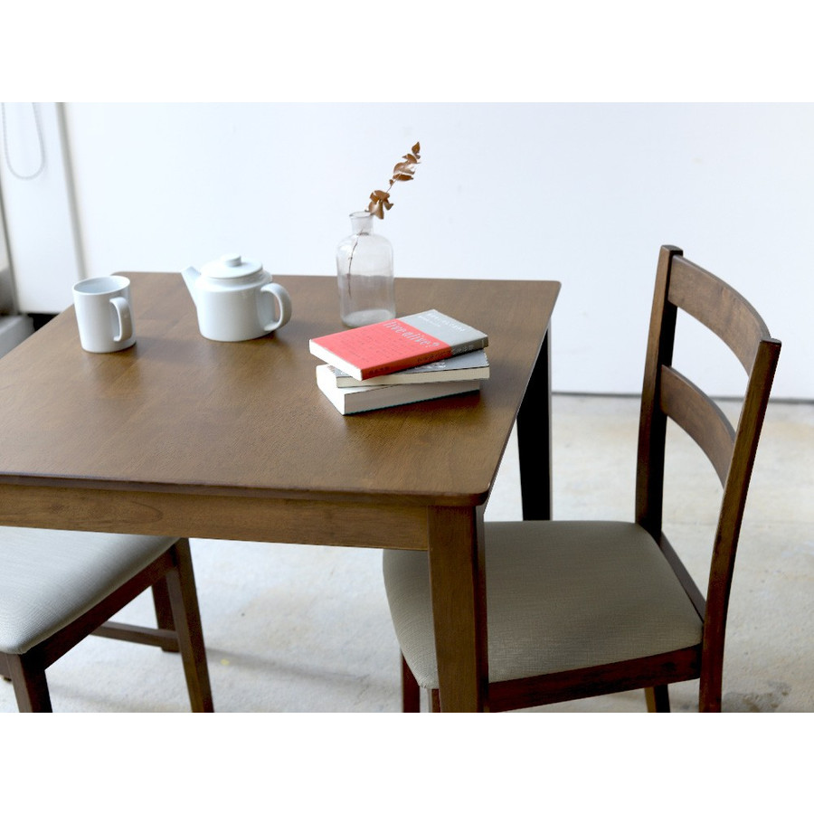 ダイニングテーブルセット 3点 2人 ダイニングセット ラバーウッド テーブル W750 チェア 2脚セット MTS-063、MTS-061|3244p|22