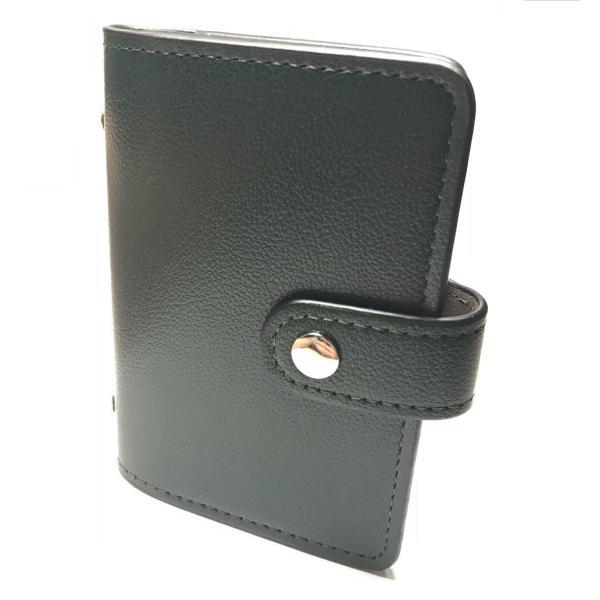 カードケース 磁気防止 薄型 レザー 大容量 カード入れ  全9色 22枚収納 男女兼用 ギフトケース付 プレゼント ハンドスピナー付属|34618|27
